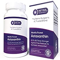 World's Purest Astaxanthin 10mg - Organic Astaxanthin Supplement 20 to 90X Stronger Than Synthetic - Natural Astaxanthin Lab Tested 97% Pure - from Haematococcus Pluvialis - by Retina Research