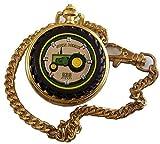 John Deere Franklin Mint Pocket Watch 830 Diesel Tractor