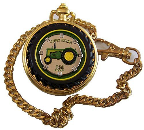 John Deere Franklin Mint Pocket Watch 830 Diesel Tractor -  TFMB11ZM04-PO