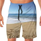 Haixia Mens Adjustable Boardshorts Wedding Decorations Just Married Written On