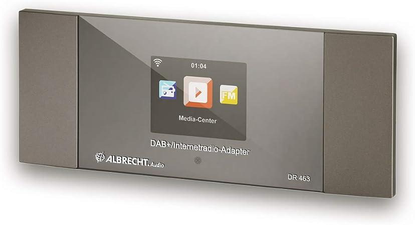 Albrecht DR463 - Adaptador para Radio por Internet y Dab+ para reequipar radios y Equipos estéreo, recibe música a través de Bluetooth®, WLAN, Dab+