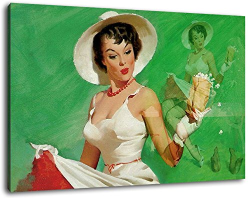painting on canvas-covered no posters or poster art print on wall picture with frame huge XXL images completely and completely framed with stretcher Size: 100x70 cm cheaper than painting or picture Rockabilly Limited Edition Retro