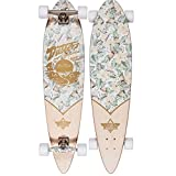 Dusters 10531389 Cruisin White/Gold Longboard Skateboard, White/Gold, Size 37