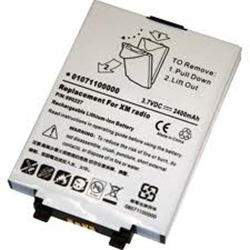 Replacement 2400mAh 9S0227, 990227, EPNN8774A, EPNN9155A, TXMBT01 Battery for Delphi MyFi XM2GO, MyFi SA100013, TXM1000, XMTSZ03089-0, Pioneer Airware XM2GO, TAO XM2GO XM Satellite Radio Receivers