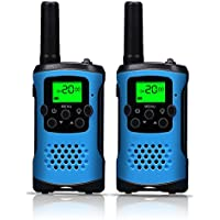 Walkie Talkies for Kids, 22 Channel Kids Walkie Talkies 2 Way Radio 3 Miles (Up to 5Miles) FRS/GMRS Handheld Mini Walkie Talkies for Kids (Pair) (Blue)