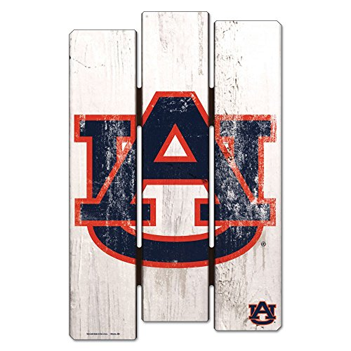 WinCraft NCAA Auburn University Wood Fence Sign, ()