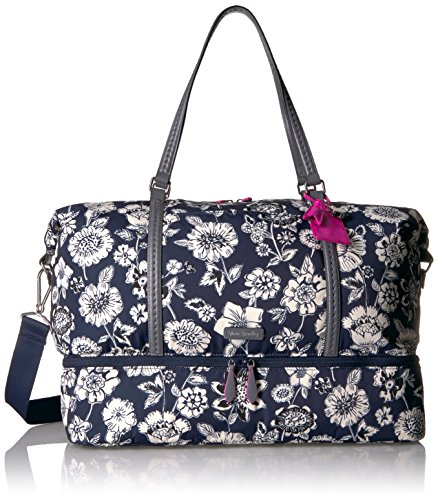 Vera Bradley Women's Midtown Travel Bag, Midnight Floral (Vera Bradley On The Go Midnight Blues)