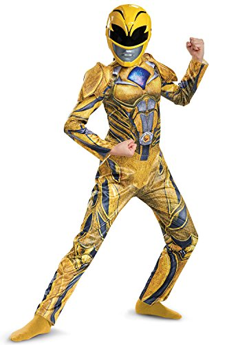 Power Ranger Movie Deluxe Costume, Yellow, Small (4-6X)