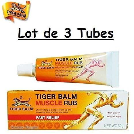 Tiger Balm Cremas Térmicas Muscle Rub De Bálsamo De Tigre Para Dolores Musculares 3 x 30g | Pomada Sin Grassa Tailandia: Amazon.es: Salud y cuidado personal
