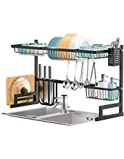 SortWise Dish Drying Rack Over The Sink -Adjustable Large Dish Rack Drainer for Kitchen Organization