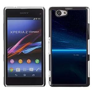 Los cielos nocturnos Calm - Metal de aluminio y de plástico duro Caja del teléfono - Negro - Sony Xperia Z3 Compact / Z3 Mini (Not Z3)