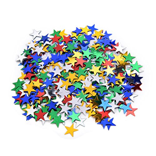 6Mm/10Mm Stars Table Confetti Sprinkles Birthday Party Wedding Decoration Sparkle Blue Gold Silver Green Metallic Stars Supply Colorful 10mm]()