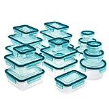AmazonBasics 38 Piece Plastic Locking Food Storage Container - Blue