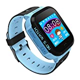 Per Children Smart Watch 1.44'' HD Touch Screen Support Android IOS System With Flashlight &Camera Anti-Lost Watch For Kids Toddlers-Blue