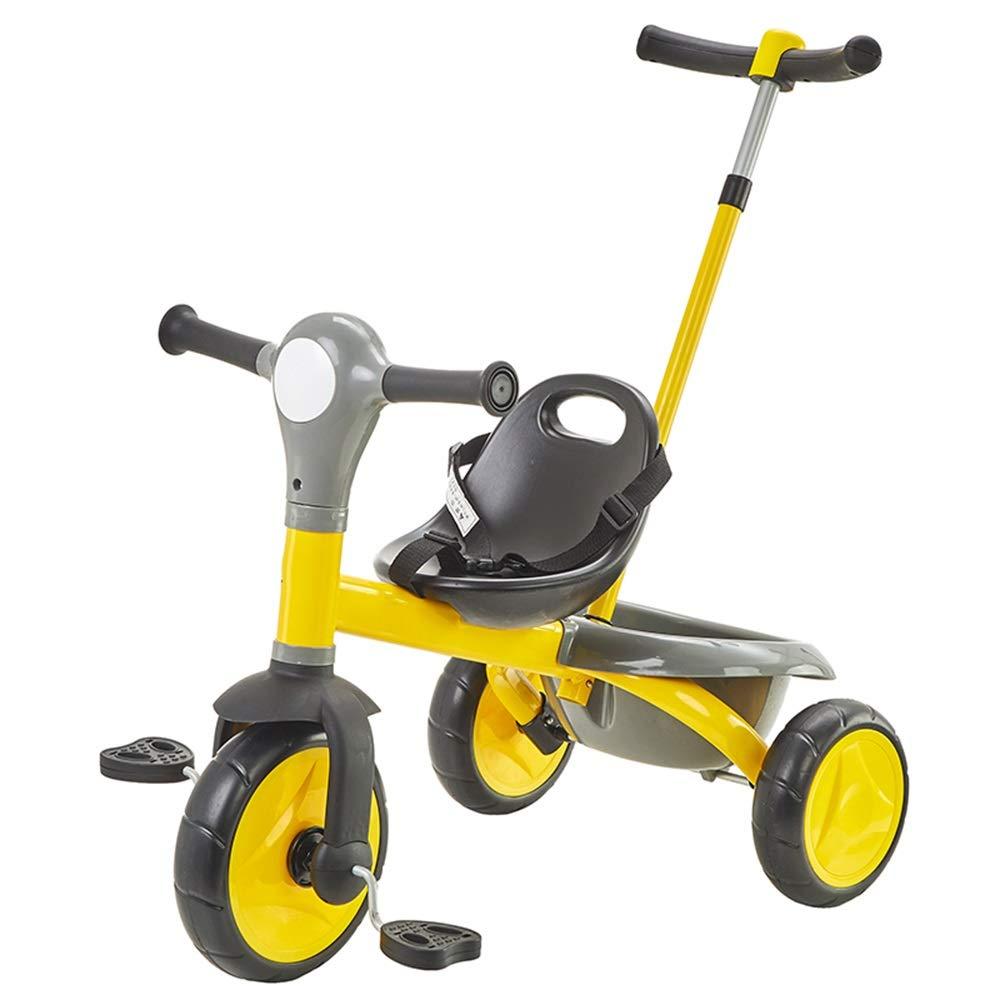 【現金特価】 Axdwfd Axdwfd 子ども用自転車 黄 B07PZW4BJS 子供の三輪車は2-6歳のベビーカーの重量25kgを積んでいます 黄 B07PZW4BJS, 柳屋茶楽:5ebd51a6 --- senas.4x4.lt