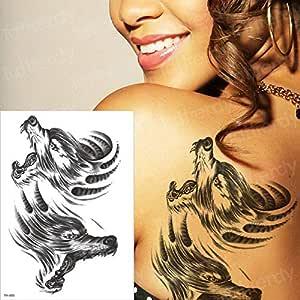 3pcsWaterproof Tattoo Halloween Body Sticker Rose Heart Wolf Leg ...