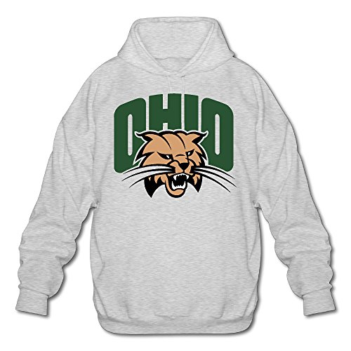AUSIN Men's Ohio University Hoodie Ash Size M