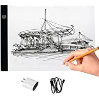 A4 Dimmable LED Light Box Ultra-thin USB Power Cable LED Light Tracing Board Brightness Light Box for Drawing, Artists, Sketching, Animation Designing Stencilling X-ray Viewing, 12.27 x 9.37- Inch