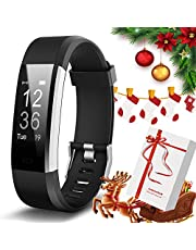 Lintelek Fitness Tracker - Activity Tracker with Heart Rate Monitor, Waterproof Smart Fitness Watch with Sleep Monitor, Step, Calorie Counter, Pedometer Watch for Kids, Women, Men and Gift