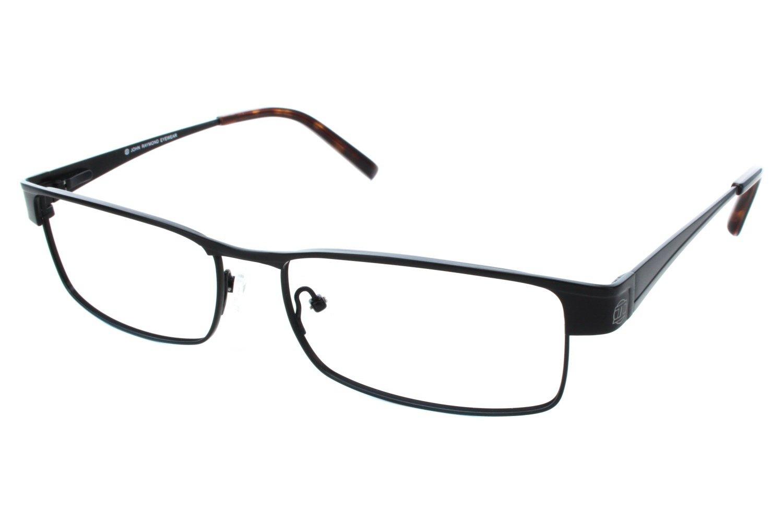John Raymond Release Mens Eyeglass Frames - Black