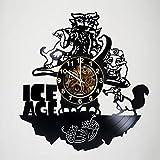 Iskra Shop Ice Age - Movie – Handmade Art Vinyl Record Wall Clock - Artwork Gift Idea for birthday, christmas, women, men, friends, girlfriend boyfriend and teens - living kids room nursery