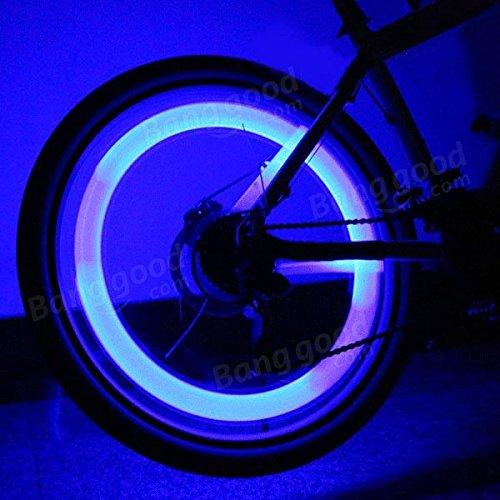 PhilMat Un par de ruedas de bicicleta de tiburón luz forma radios LED moto multicolor