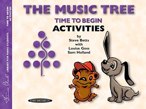 The Music Tree Activities Book: Time to Begin (Frances Clark Library for Piano Students)