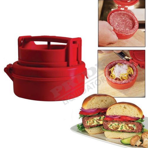 UNAKIM--Hamburger Maker Burger Press Meat Patty Stuffed Pizza Kitchen Cooking Helper USA