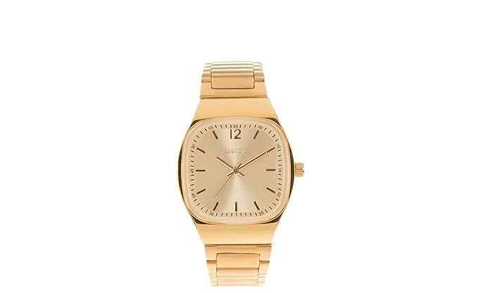 Parfois - Reloj Cuadrado Classic Square - Mujeres - Tallas M - Dorado: Amazon.es: Relojes