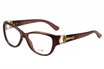 0032b6ab17e GUCCI 3714 Eyeglasses 00D0 Tropical Burgundy 54-15-120  Amazon.co.uk ...