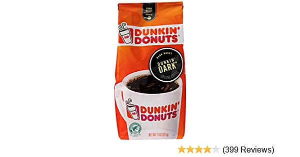 Dunkin' Donuts Dunkin' Dark Ground Coffee, Dark Roast, 11 Ounce