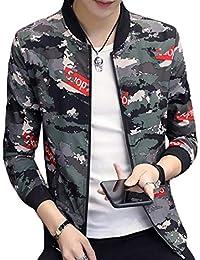 Camouflage Flight Jacket Lightweight Slim Fit Quilted Coat