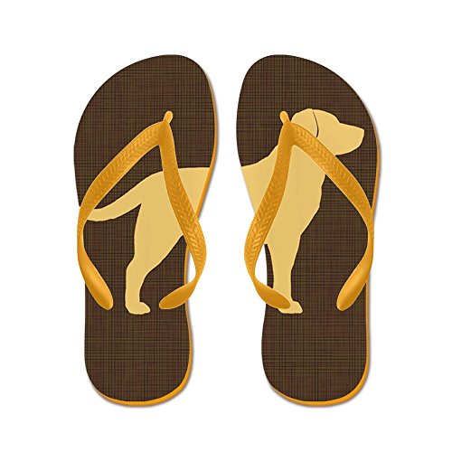 CafePress Yellowlabpillow - Flip Flops, Funny Thong Sandals, Beach Sandals Orange