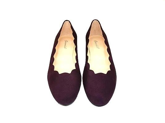 b465acb399d Bailarinas de Piel para Mujer con Olas en el Hueco + Tacon Bajo 3 cm + Punta  Redonda Cerrada: Amazon.es: Zapatos y complementos