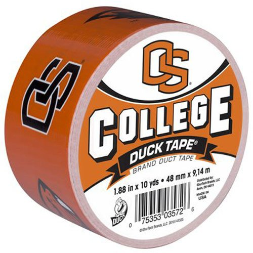 Duck Brand 240870 Oregon State University College Logo Duct Tape, 1.88-Inch by 10 Yards, Single Roll ()