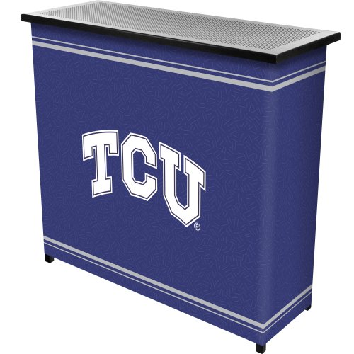NCAA Texas Christian University Two Shelf Portable Bar with Case by Trademark Gameroom