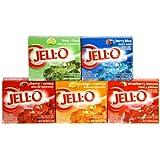 アメリカ製 ジェロー ゼラチンデザート(ゼリーミックス) 5種類セット  Jell-O