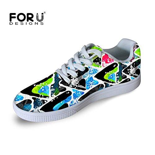 手足バルセロナ後退するFor U Designsカジュアルメンズレースアップロートップ快適スケートボード靴ファッションスニーカー