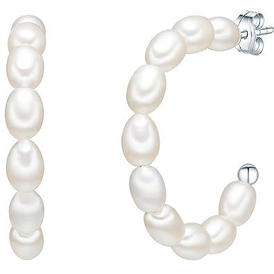 748a9452a705 Valero Pearls - Pendientes embellecidos con Perlas de agua dulce - Alambre  de acero inoxidable -