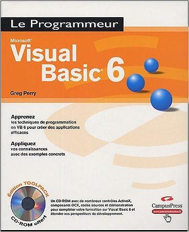 Téléchargement Visual Basic 6 (+ 1 CD-Rom) pdf