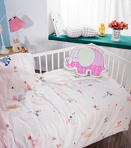 J-pinno Toddler Boys Girls Cute Jungle Elephant Horse Quilt