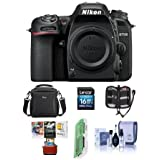 Nikon D7500 DX-format Digital SLR Camera Body, Black - Bundle With 16GB SDHC Card, Camera Bag, Cleaning KIt, Memory Wallet, Card Reader, Mac Software Package