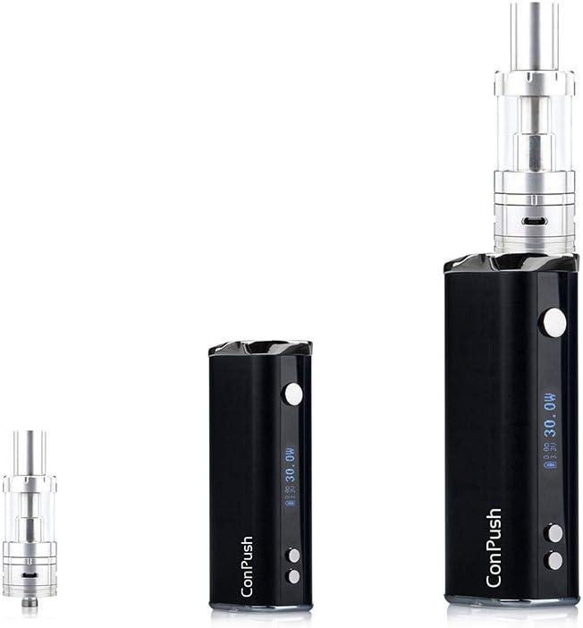 ConPush 40W BOARSE cigarrillo electrónico E cig Mod Kit de inicio, 2200mAh batería, recarga superior 2.5ml 0.5ohm Evaporador sin nicotina(negro,Pro)