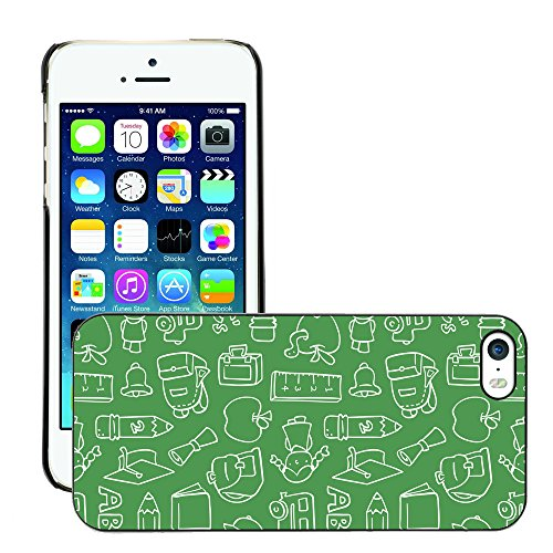 Premio Sottile Slim Cassa Custodia Case Cover Shell // V00002481 Motif Chalkboard // Apple iPhone 5 5S 5G