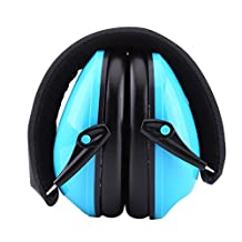 Foldable Headband Ear Noise Reduction Earmuffs Hearing Sleeping Protection Ear Protector for Kids Student,Fits Adults and Women(Blue)