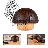 Kasstino Portable Mini Wooden Mushroom Wireless Bluetooth Speaker 2 in 1 Bass Audio Music Player with TF Card Port for iPhone iPad Samsung Huawei Smartphone