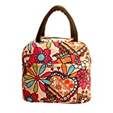 Lunch Handbag Among Thermal Insulated Tote Picnic Cool Canvas Bag Cooler Pouch Waterproof Zipper Boxes (Multicolor)