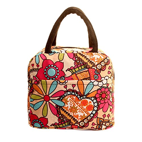 Handheld Evening Bag (Lunch Handbag Among Thermal Insulated Tote Picnic Cool Canvas Bag Cooler Pouch Waterproof Zipper Boxes (Multicolor))