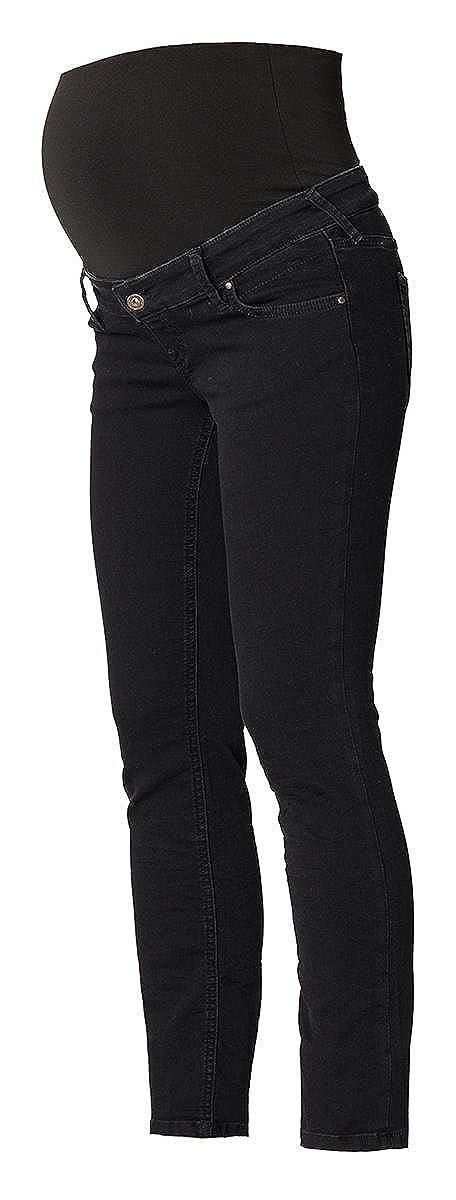 Queen Mum Damen Umstands Jeans Denim Straight Leg Hose