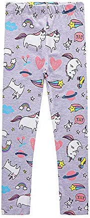 Girls Leggings 3-Pack Set Cotton Casual Solid Stripe Stretch Tights Pants